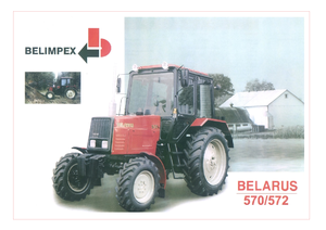 Hinterrad-Traktoren Belarus 570