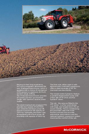 Allrad-Traktoren McCormick XTX 145 M