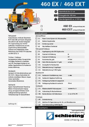 Holzhäcksler Schliesing 460 EX