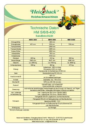 Holzhäcksler Heizohack HM 8-400