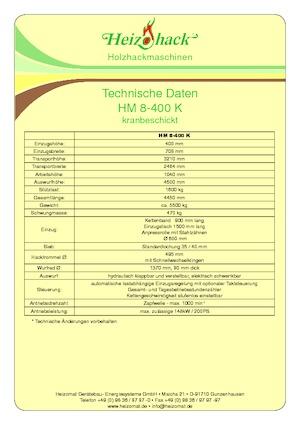 Holzhäcksler Heizohack HM 8-400 K