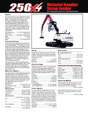 Raupenbagger Link-Belt 250 X4 MH