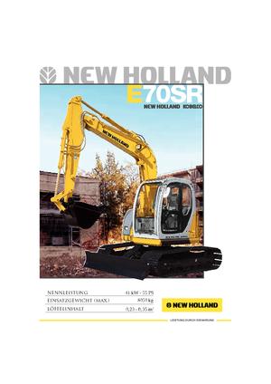 Raupenbagger New Holland E 70 SR