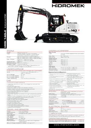 Raupenbagger Hidromek HMK 140 LC