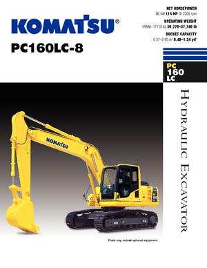 Raupenbagger Komatsu PC160LC-8