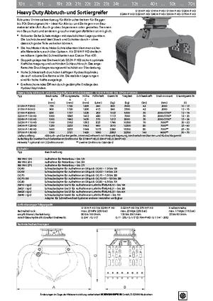 Abbruch-Sortiergreifer Kinshofer D 20 H-P 100 HD