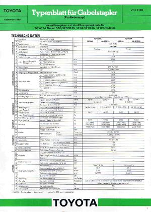 Frontstapler Diesel Toyota 02-5 FD 33