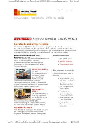 Kommunale Mehrzweckfahrzeuge Diesel Boki 1151 B