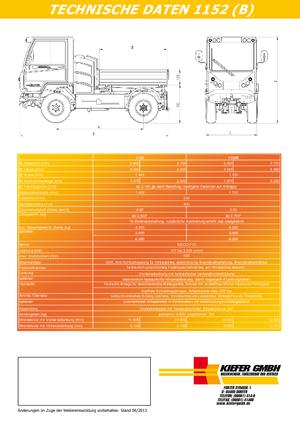 Kommunale Mehrzweckfahrzeuge Diesel Boki 1152