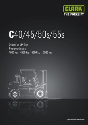 Frontstapler Diesel Clark C 40 D