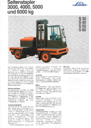 Querstapler Diesel Linde S 30