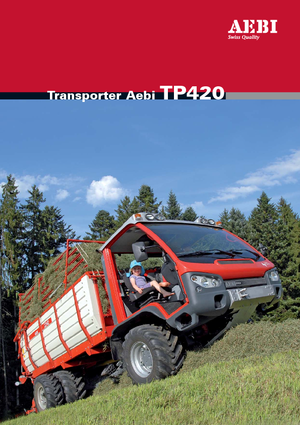 Kommunale Mehrzweckfahrzeuge Diesel Aebi TP 420