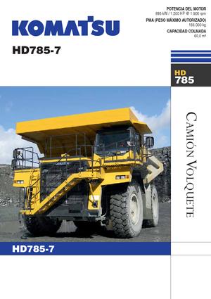Muldenkipper-SKW Komatsu HD785-7