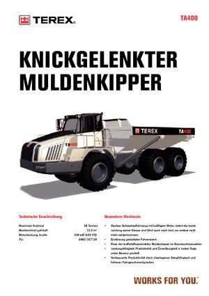 Dumper Terex TA 400