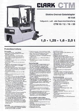 Frontstapler Elektro Clark CTM 16 SX