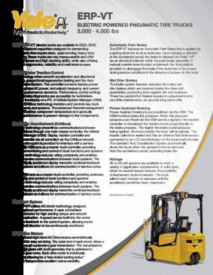 Frontstapler Elektro Yale ERP-040VT