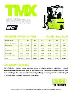 Frontstapler Elektro Clark TMX 20