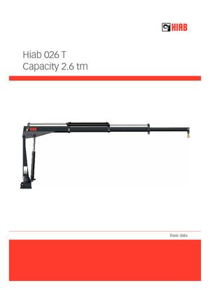 Elektro-Ladekrane Hiab 026 T-1 ELT