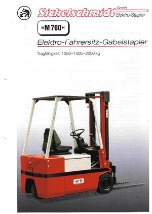 Frontstapler Elektro Sichelschmidt M 712 ASM