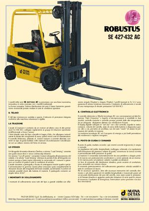Frontstapler Elektro Nuova Detas SE 432 AC