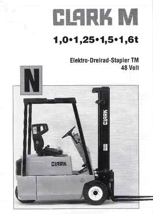 Frontstapler Elektro Clark TM 16 N