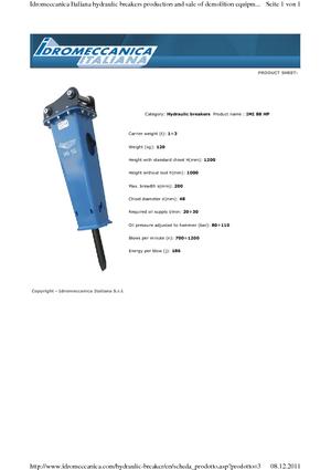 Hydraulik-Meißelhämmer Idromeccanica IMI 88