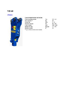 Hydraulik-Meißelhämmer Vistarini VH 60