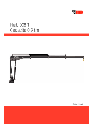 Hydr. Ladekrane Hiab 008 T-2 PTO