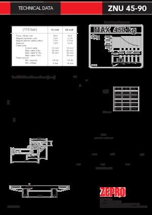Hubladebühnen ZEPRO ZNU 45-90