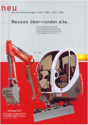 Minibagger Neuson 2203