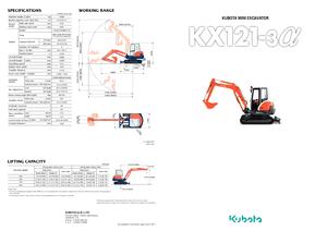 detailed kx 101 3 alpha 2 kubota en technical specification in 1 pdf lectura specs. Black Bedroom Furniture Sets. Home Design Ideas