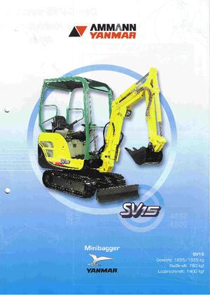 Minibagger Yanmar SV 15