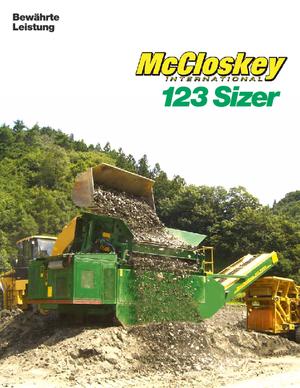 Mobile Siebanlagen McCloskey 123 Sizer