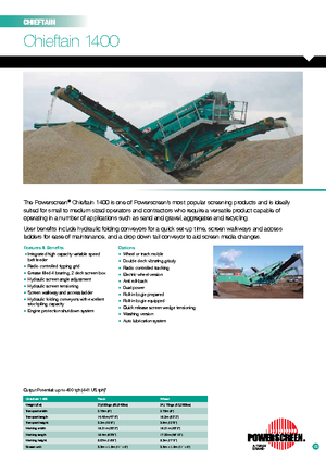 Mobile Siebanlagen Powerscreen Chieftain 1400