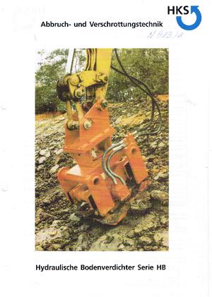 Anbauflächenrüttler HKS HB 9800 R