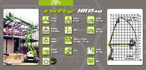 Gelenk Arbeitsbühnen auf Rädern Niftylift HR 15