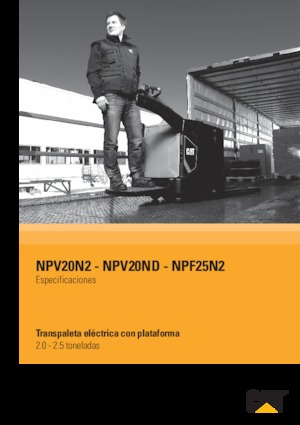 E.-Stand-Niederhubwagen Caterpillar NPV20N2