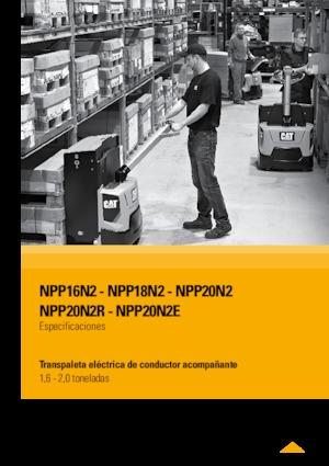 E.-Geh-Niederhubwagen Caterpillar NPP20N2E