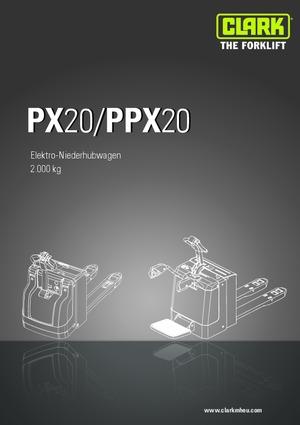 E.-Geh-Niederhubwagen Clark PX 20