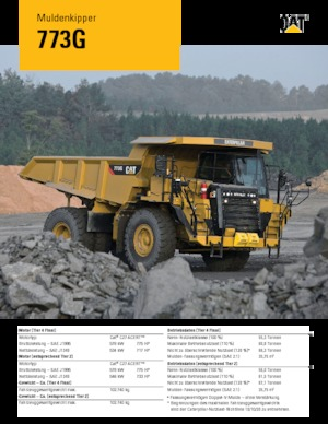 Muldenkipper-SKW Caterpillar 773G