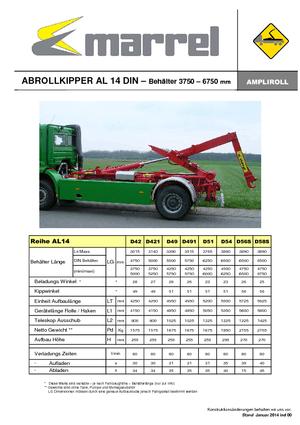 Abroll-Kipper Marrel AL 14 DIN 51 B