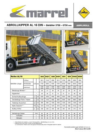 Abroll-Kipper Marrel AL 16 DIN 421 B