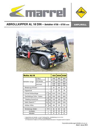 Abroll-Kipper Marrel AL 18 DIN 56 S-B