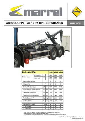 Abroll-Kipper Marrel AL 18 PA DIN 54 B