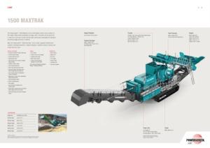 Bauschutt-Recyclinganlagen Powerscreen 1500 Maxtrak