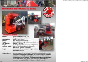Bauschutt-Recyclinganlagen Red Rhino 3000 Mini