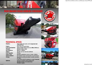 Bauschutt-Recyclinganlagen Red Rhino 5000