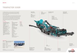 Bauschutt-Recyclinganlagen Powerscreen Trakpactor 320 SR