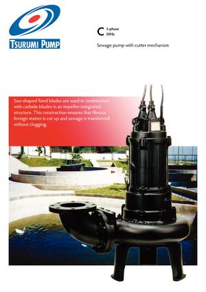 Tauchkörperpumpen Abwasser-Schlamm Tsurumi-Pumpen 100C42.2