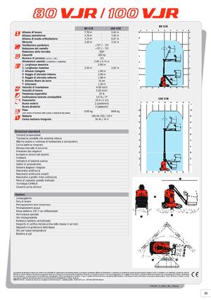 Vertikalteleskoparmbühnen Manitou 100 VJR Evolution